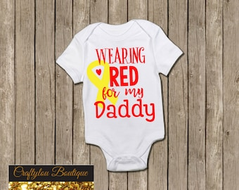Wearing Red for my Daddy shirt
