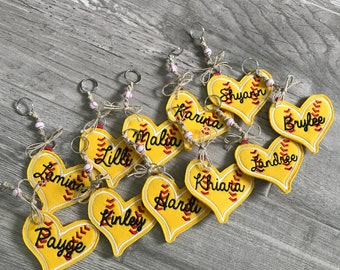 Personalized Softball Key Chain ***Team Discount Offered***