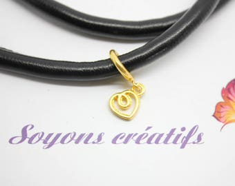 1 cord 6-7 mm - SC77966 - Perle passing gold heart
