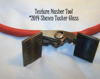 READY TO SHIP Shawn Tucker Texture Masher Tool for Lampworking Beadmaking or Glassblowing