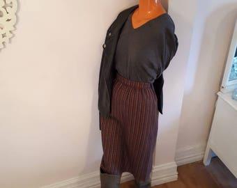 70s SKIRT W POCKETS / vintage wool plaid skirt / skirt with pockets / vintage seventies skirt / perfect condition 1970s clothing