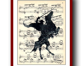 Zorro Poster 2 Giclee Wall Illustrations Art Print  8x10 Wall Decor Home Decor  Upcycled  Dictionary Pages