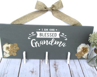 Mothers Day Gift for Grandma, Gift for Grandma, Grandma Gift, I am One Blessed Grandma, Gifts for Her, Grandma Sign, Grandma Picture, Nana