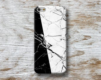 Black White Marble Phone Case for iPhone 4 4s 5 5s SE 5C 6 6S 7 8 PLUS X iPod Touch 5 6 Oneplus 2 3 5 1+2 1+3 1+5