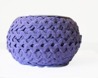 """Light Purple 1/2"""" Ricrac. Lavender Ricrac Trim. You Choose 3, 5, 10 Yards."""