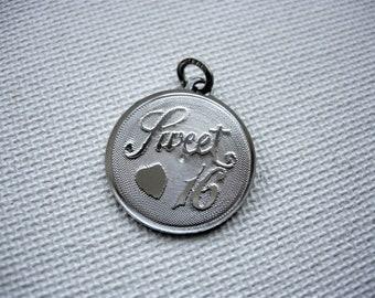 Sweet 16 Beau Sterling Silver Pendant/Charm