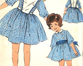 Girl's Dress with Detachable Top Size 3 Advance 2960 Sew-Easy Vintage Sewing Pattern