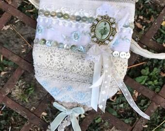 "Small romantic bag ""LES BLUEBERRIES"""