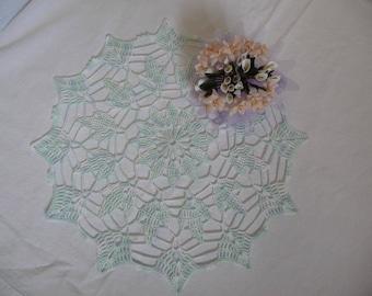 Doily handmade cotton blue white gradient