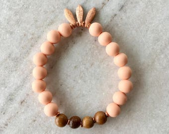 Wood and Silicone Beaded Mala Inspired Bracelet