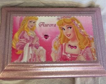 Princess Aurora Upcycled Jewelry and Trinket Box