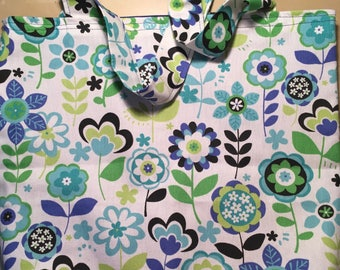 Floral Canvas Market Bag