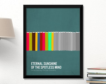 Eternal Sunshine movie poster, Eternal Sunshine of the Spotless Mind, minimalist, cinema, Eternal Sunshine, contemporary art
