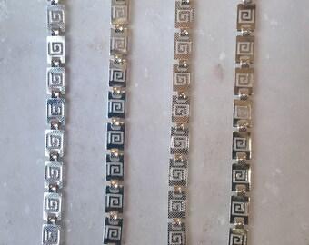 3+1 FREE! Greek Key Sterling Silver Bracelet