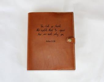 NIV Journaling Bible, single column journaling bible, journaling bible leather cover, personalized journaling bible, customized bible