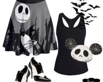 Nightmare Before Christmas skirt inspired by Jack Skellington, the pumpkin king!