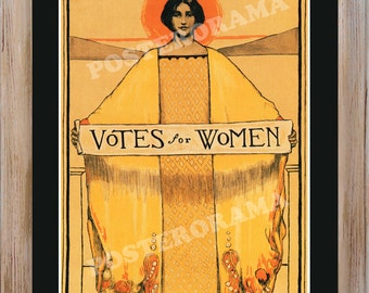 Votes for Women Women's suffrage POSTER large 14 x 20 Feminism Print