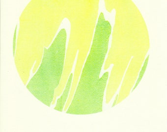 Abstract Risograph print - taken from ink marbling pattern - A4