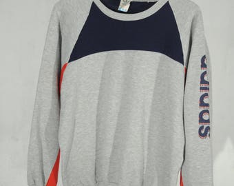 Vintage Adidas Originals sleeve Logo Sweatshirt M made in Singapore