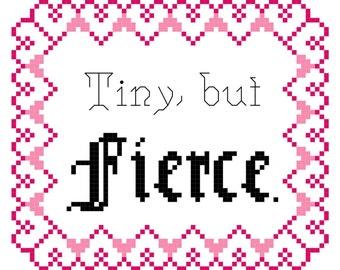 Tiny but Fierce Cross Stitch Pattern