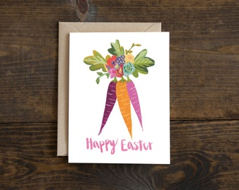 Easter greeting card, hand painted, hand lettering