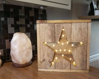 Rustic Wooden Star with lights