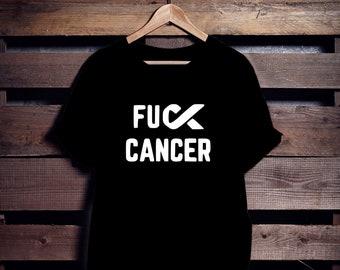 FUCK CANCER | T shirt | Femme | Homme | Unisex | Franglais | Français | Blanc | Noir | Cotton