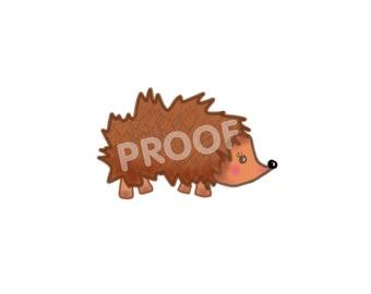 Baby Hedgehog Digital Print