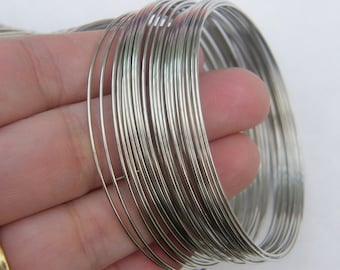 200 Loops memory wire 60 - 65mm silver tone 17929