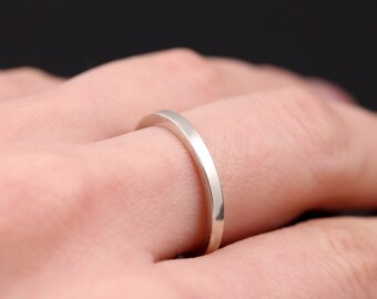 Unique wedding band, Silver wedding band, Silver wedding ring, Silver rings, Stacking engagement ring, Mens ring, Womens ring, Stacking ring