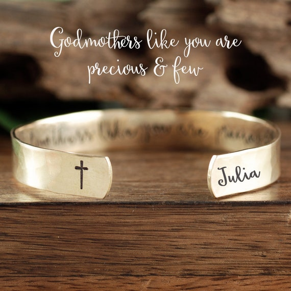 Godmother's Like you are Precious and Few, Gold Godmother Gift, Godmother Jewelry, Baptism Gift, Christening Gift for Godmother,GIft for Her