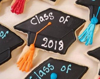 Graduation cookies. Asst colors 12pcs