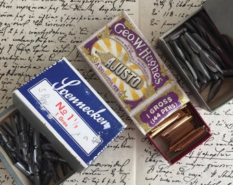 A collection of 3 nibs, 2 German nib brands or one British. Select a set of one of each (3 nibs), two of each (6 nibs) or one type (3 nibs).