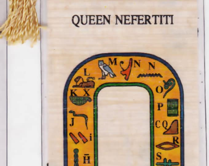 Queen Nefertiti Egyptian Papyrus Bookmark. Ancient Egyptian Queen. Unique, inexpensive gift for women, girls, teens, Book lovers, Egypt