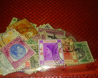 Stamp Collection Of 50 Old Empire Stamps