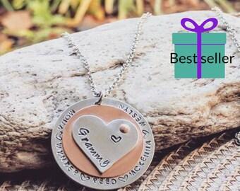 Grammy necklace, Nana necklace, Grandma necklace, Grandmother gift, Grandma gift, Grandparent gifts, Mimi necklace, Valentines day, gift