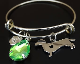 Dachshund Bracelet, Dachshund Bangle, Dachshund Charm, Dachshund Pendant, Dachshund Jewelry, Doxie Mama, Weiner Dog Bracelet, Doxie Bangle