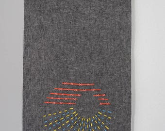 circle wallhanging - small - contempory textile art - fiber art - wall hanging - textile artist - fiber artist