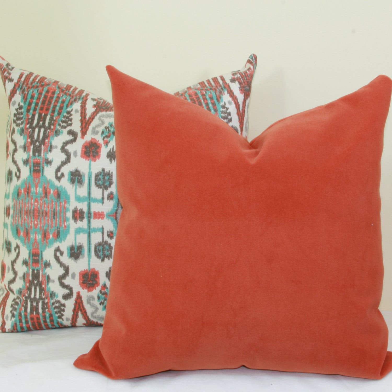 orange pillow carousel heather fox lumbar designs large
