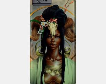 Aries iPhone Case African American Goddess Black Girl Magic Afrofuturism
