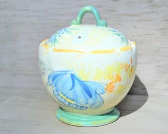 PFALZTGRAFF SUGAR BOWL Vintage Floral Pattern Sugar Bowl Small Covered Dish