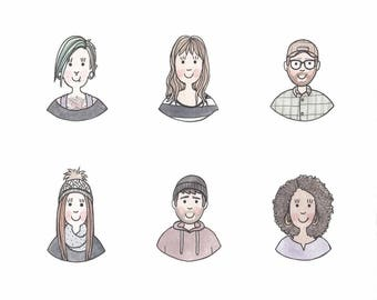 Avatar illustration, custom illustration, custom avatar illustration