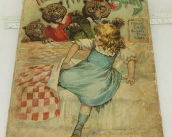 Antique The Three Bears #1475 Nursery Tales Illustrated Publication Raphael Tuck 1910