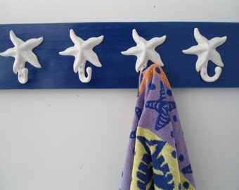 beach towel rack starfish hot tub towels swimming pool towel rack outdoor shower cottage coastal living nautical bath towels BeachHouseDream