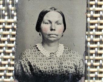 GEM Size Tintype - Lady Gertrude