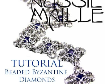 Chainmaille Tutorial - Beaded Byzantine Diamond Bracelet