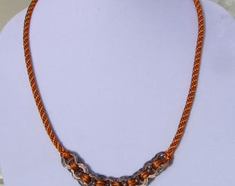 Autumn Rings Kumihimo Necklace Set
