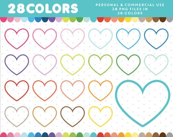 Heart clipart, Heart overlay, Heart icon frame label, Digital Heart graphics, Love Clipart Icon, Scrapbooking, Planner Clipart Icon, CL-645