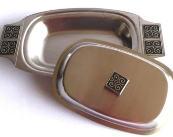 DANISH MOD STAINLESS / Covered serving dish