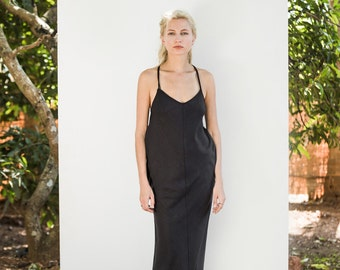 SALE / Night Owl Dress / SS17 / 100% Raw Silk / Ethical Sustainable Fashion / Luxury Garment / Resort / Made in India